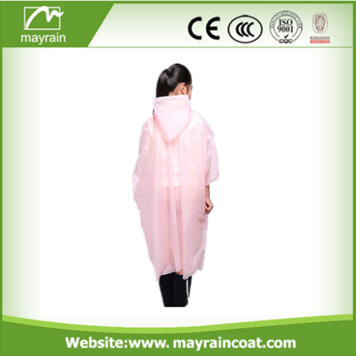 PE Disposable Plastic Rain Poncho