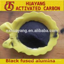 Schwarzes verschmolzenes Aluminiumoxid / schwarzer Korund, hochwertiges reibendes / feuerfestes Material