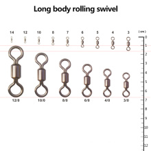 Wholesale Fishing Long Body Rolling Swivel