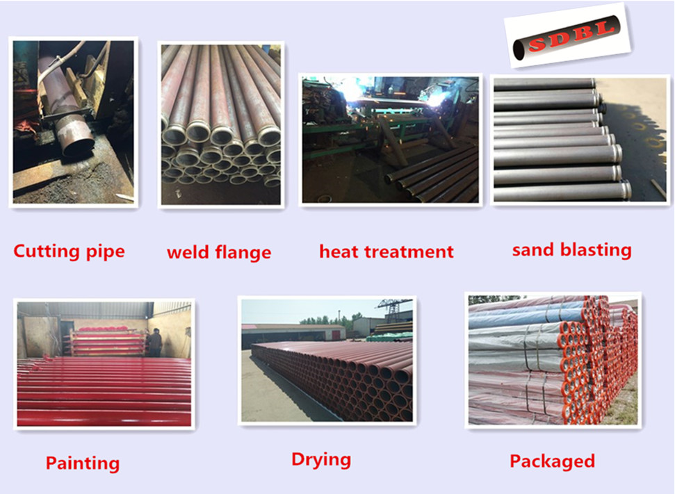 concrete pump harden pipe treatment process