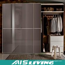 Armário estratificado do vestuário da porta deslizante da mobília do quarto (AIS-W512)