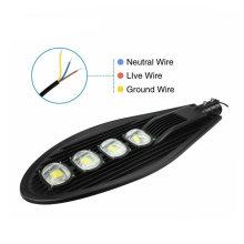 Réverbère de la puissance élevée 200W LED de couleur noire pour le jardin et l'autoroute