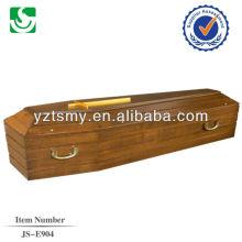 punho do metal com a Cruz de ouro para o caixão útil