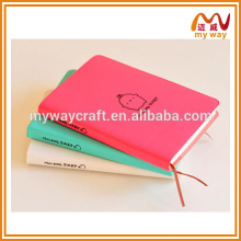 Korean leather stationery series of pu notebook with bookmark