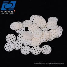 Microplaqueta cerâmica da alumina feita sob encomenda branca