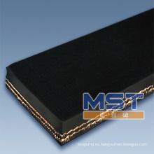 Tela transportadora del listón de la cubierta de la goma de la capa de la tela de 2 capas