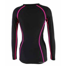 Camisa activa sublimada completa Compresión Desgaste Mujer