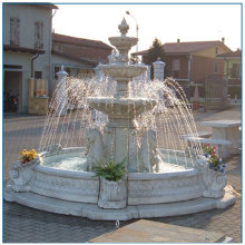 Garden White Marble Water Fountain For Sale
