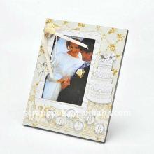 moldura de madeira casamento foto moldura