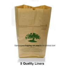 Бумажный сад и листовой мешок для мусора
