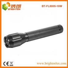 Fuente de la fábrica CE ROHS La mejor linterna ligera fuerte del CREE XML T6 10W LED del poder más elevado de la viga larga del zumbido 3c del foco del foco con las Multi-funciones