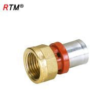 J17 4 13 6 ajuste de presión para tubo de latón hembra camiseta igual