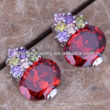 pendientes de rubíes del diseño de la moda del pavo