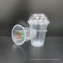 High Quality Food Grade Clear Plastic Disposable 14oz/420ml smoothie cups with lids for wholesale