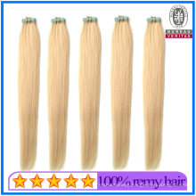 High Quality Human Hair Virgin Hair 20inch 613# Blond Color Full Cuticle Double Drawn Tape Hair Extension Remy Quality Hair