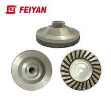Turbo Type Single Row Cup Wheel With Aluminum Basement