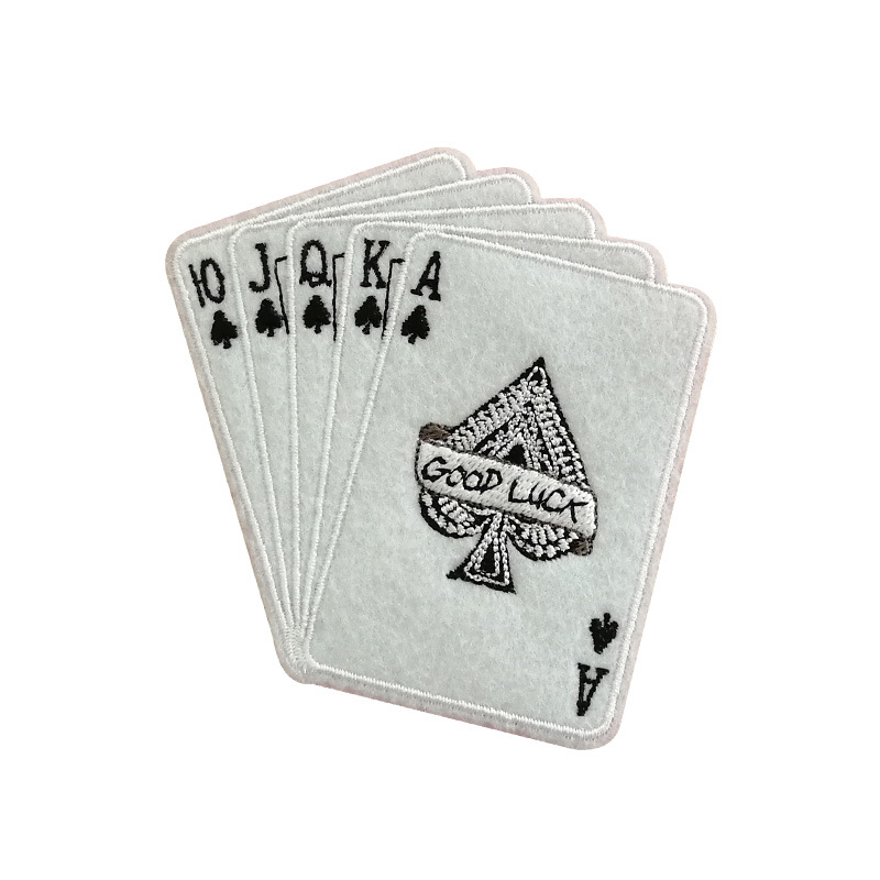 Playing Card Patch Embroidery