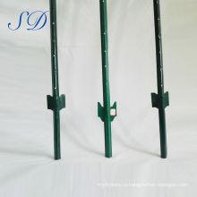 Декоративным порошковым покрытием у столба Загородки