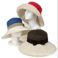 Fashion Ladies Straw Beach Hats, Paper Straw Hat