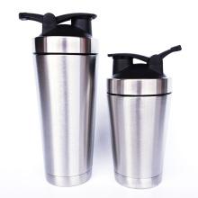 Edelstahl-Shaker-Flasche Metall isolierte Shaker-Flasche für Fitness