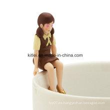 Borde al por mayor de la figura de la taza ~ chocolate color borde de la Copa de juguete