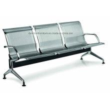 Silla de espera de acero inoxidable Silla de aeropuerto para público