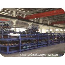 Panel de emparedado del EPS aislado rollo cadena de producción de panel de pared de máquina formando