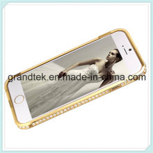 Caja de parachoques de aluminio del metal del diamante de Bling para iPhone6