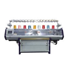 QL-52C de alta velocidade novo design única carruagem dupla sistema automático camisola plana máquina de tricô