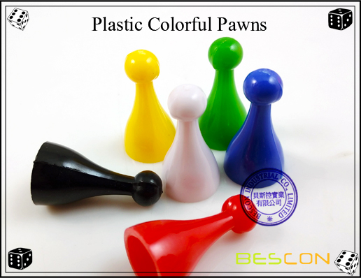Plastic Colorful Pawns-3