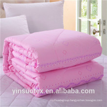 wholesale cheap solid color polyester quilted bedspreads luxury