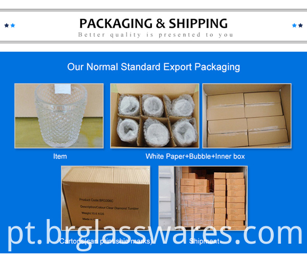 glass water cup normal packing