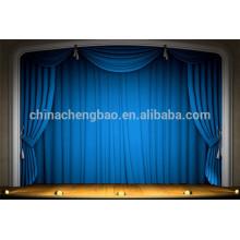 China cortina de etapa motorizada retardante de fuego con color azul