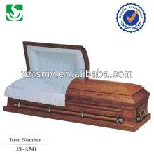 white velvet walnut US casket