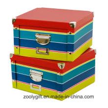 Классическое полосковое белье Складные бумажные ящики для хранения