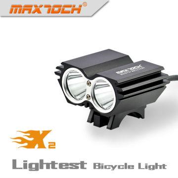 Luz brilhante inteligente da bicicleta do impulso do diodo emissor de luz de Maxtoch X2