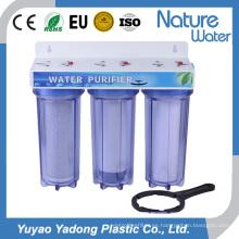 Filtro de agua de 3 etapas con carcasa de filtro de tubería de botón de liberación de aire Nw-Prf03
