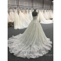 High Quality Satin Wedding Gown Ball Gown Lace Strap Bridal Dresses 2018