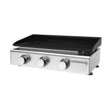 Cuisinière à gaz avec plaque chauffante 3 brûleurs