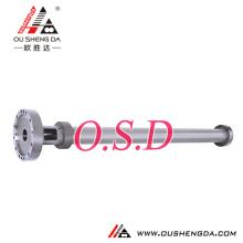 single twin double Screw cylinder barrel for air bubble film extruder XPS PE LLDPE film blowing CO2-XPS foam MX-B100D ZHOUSHAN M