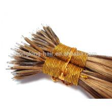 Extensão remy virgem do cabelo do anel nano 22inch