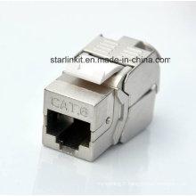 CAT6 Shielded FTP Tooless Keystone Jack avec 180 degrés