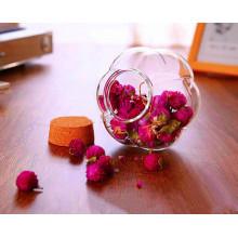 Creative Design Glass Jar Flower Shape Glass Jar Pumpkin Jars