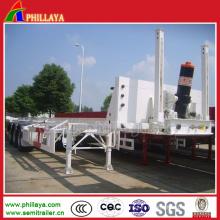Basculeurs hydrauliques arrière de camion de suspension de châssis de remorque de dumping de vidange Loder
