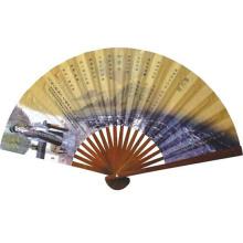 Ventilador de papel elegante de venda quente, ventilador de mão dobrável