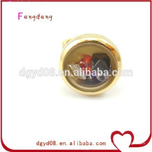 Dongguan moda al por mayor locket encantos anillo / anillo de acero inoxidable