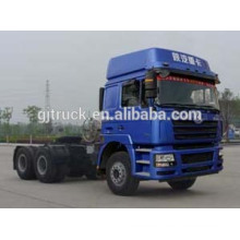 Cabeza de tractor Shacman marca 6x4 para remolque de remolque