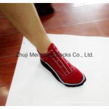 Diseño lujo hombre algodón zapato calcetines muy de moda como zapatos en los pies