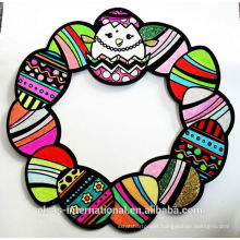 Easter Egg Wreath easter party decoration