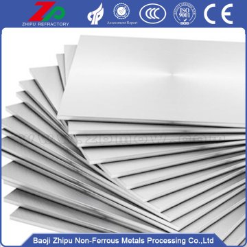 Polished surface molybdenum plate